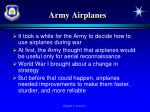 army airplanes