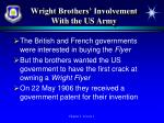 wright brothers involvement with the us army1