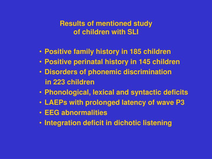 Results of mentioned study