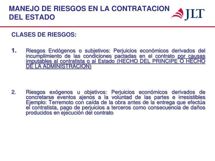 MANEJO DE RIESGOS EN LA CONTRATACION
