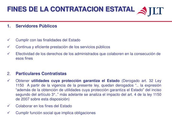 FINES DE LA CONTRATACION ESTATAL