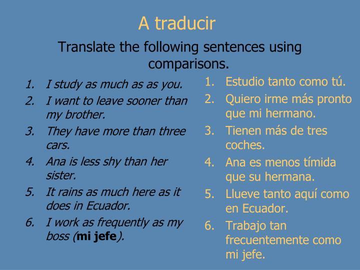A traducir