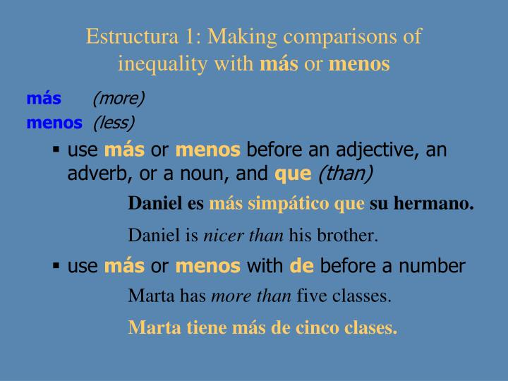 Estructura 1: Making comparisons of inequality with
