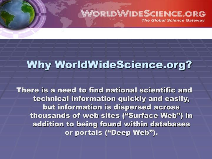 Why worldwidescience org