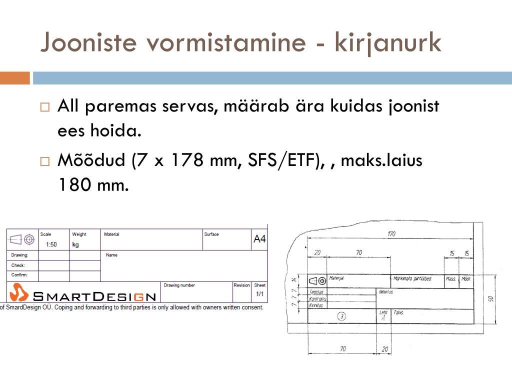 d8177c32eda PPT - Tehniline joonestamine PowerPoint Presentation - ID:4184571