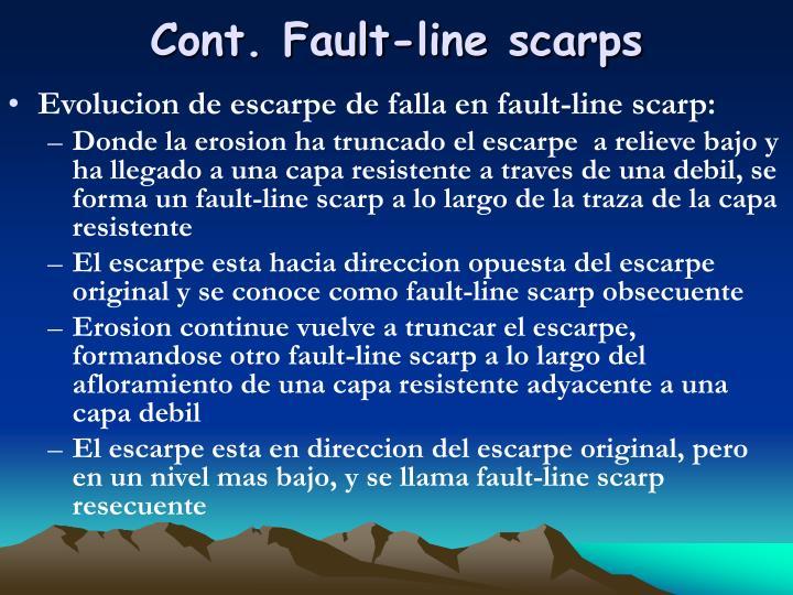 Cont. Fault-line scarps