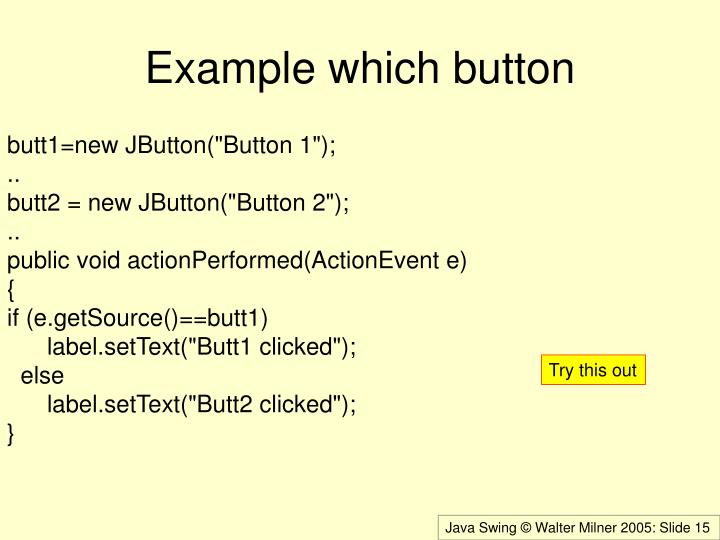 Example which button