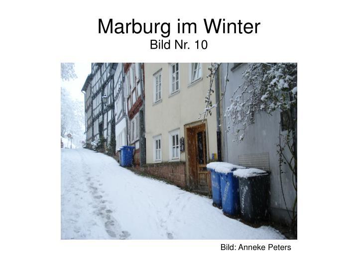 Marburg im Winter