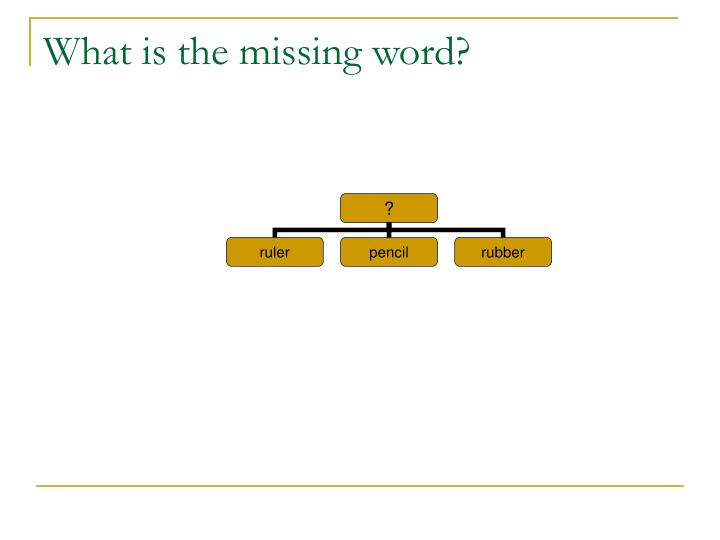 What is the missing word?