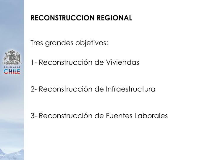 RECONSTRUCCION REGIONAL
