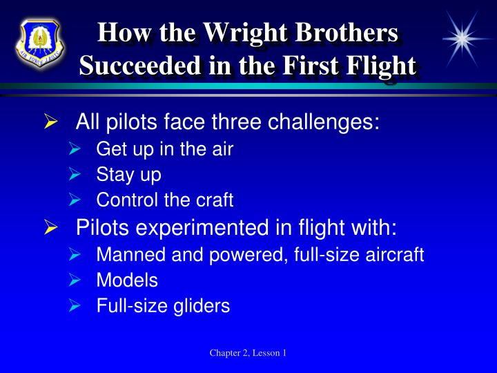 How the Wright Brothers Succeeded in the First Flight