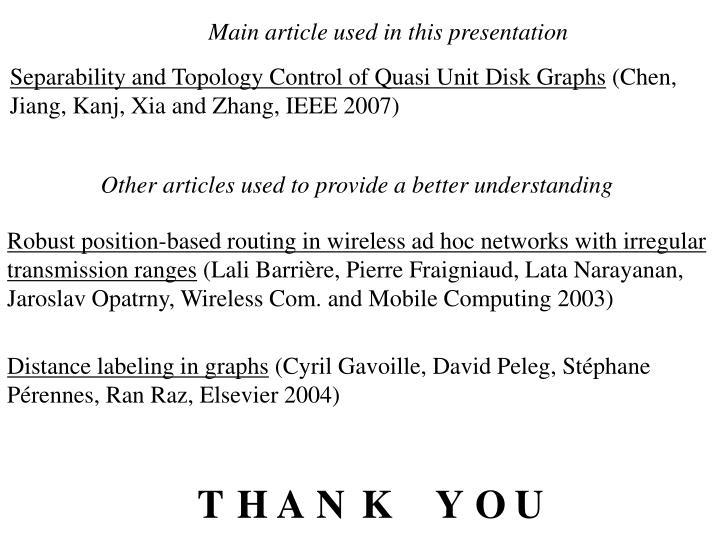 Main article used in this presentation
