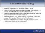 cornell university findings