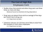 the cost of high risk employees cont