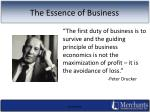 the essence of business