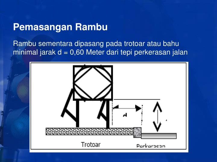 Pemasangan Rambu