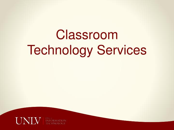 classroom technology services n.