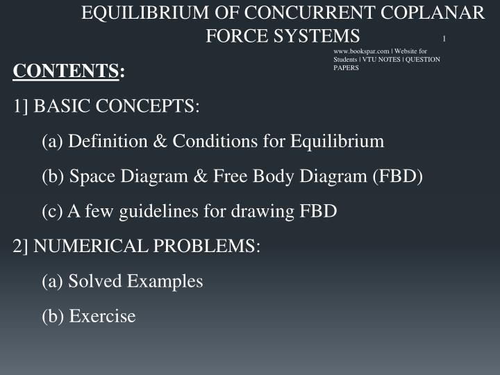 Ppt equilibrium of concurrent coplanar force systems powerpoint equilibrium of concurrent coplanar force systems ccuart Choice Image