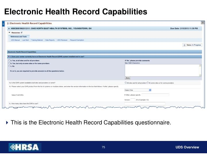 Electronic Health Record Capabilities