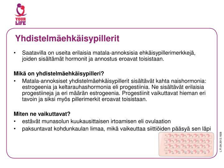 Yhdistelmäehkäisypillerit