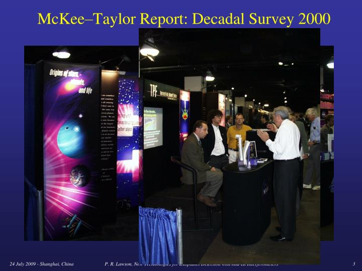 Mckee taylor report decadal survey 2000