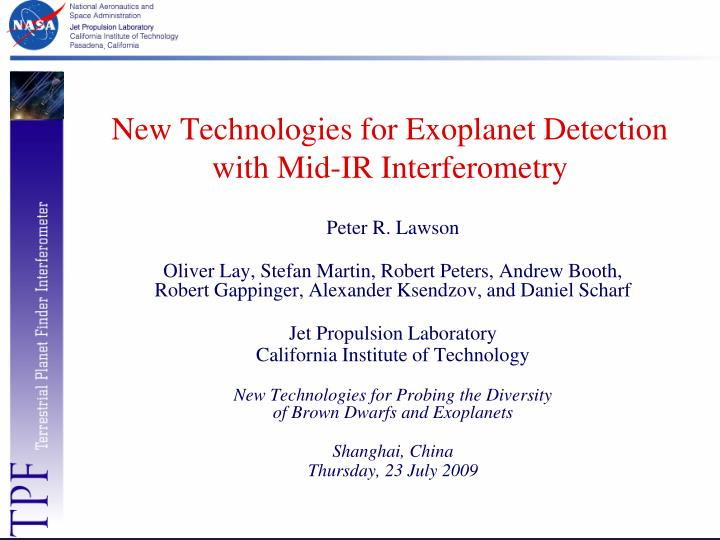 New technologies for exoplanet detection with mid ir interferometry