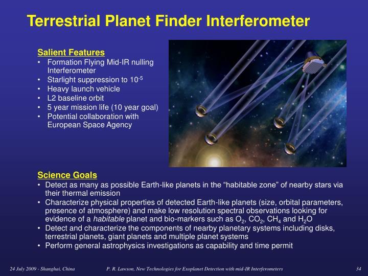 Terrestrial Planet Finder Interferometer