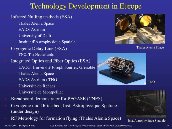 Technology Development in Europe