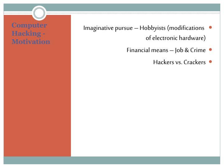 Imaginative pursue – Hobbyists (modifications of electronic hardware)