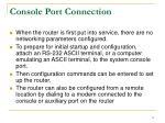 console port connection