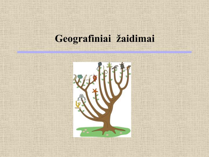 Geografiniai  žaidimai