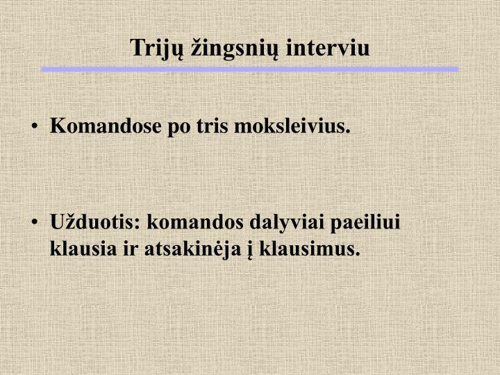 Trijų žingsnių interviu