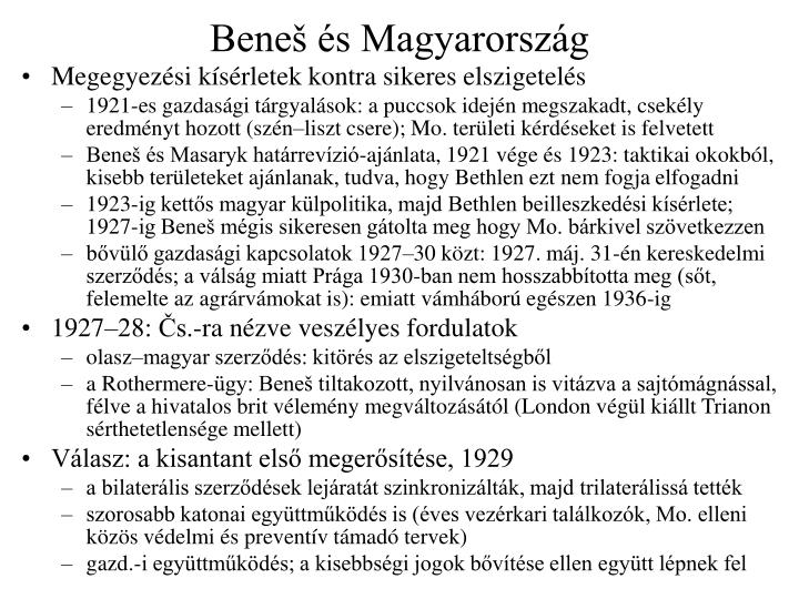 Beneš és Magyarország