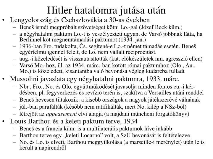 Hitler hatalomra jutása után