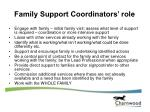 family support coordinators role