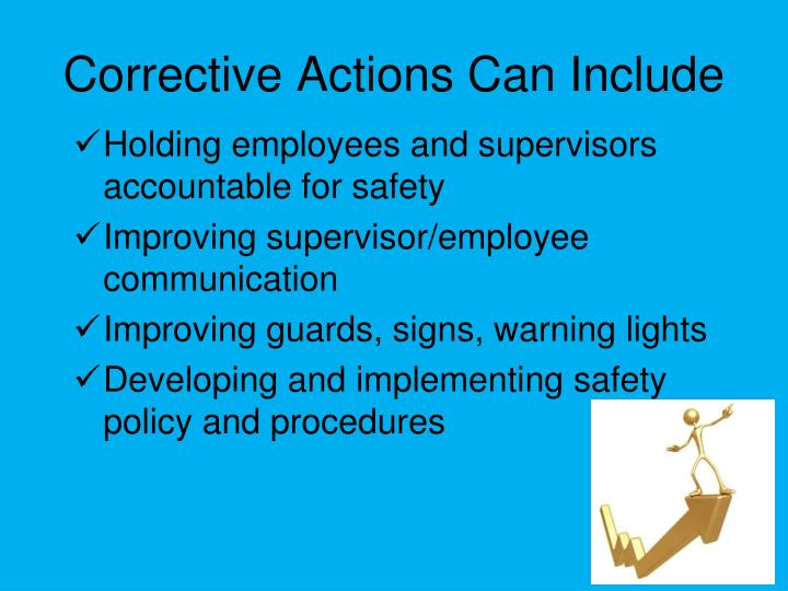 Corrective Actions Can Include