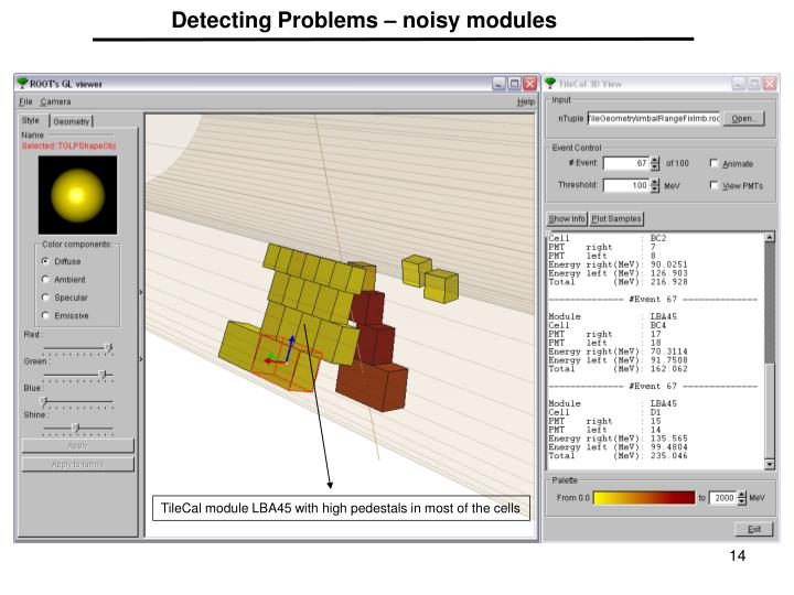Detecting Problems – noisy modules