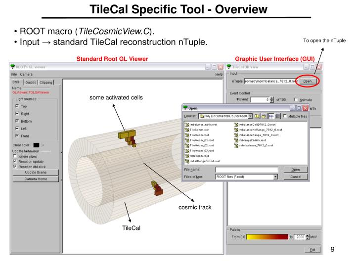 TileCal Specific Tool - Overview