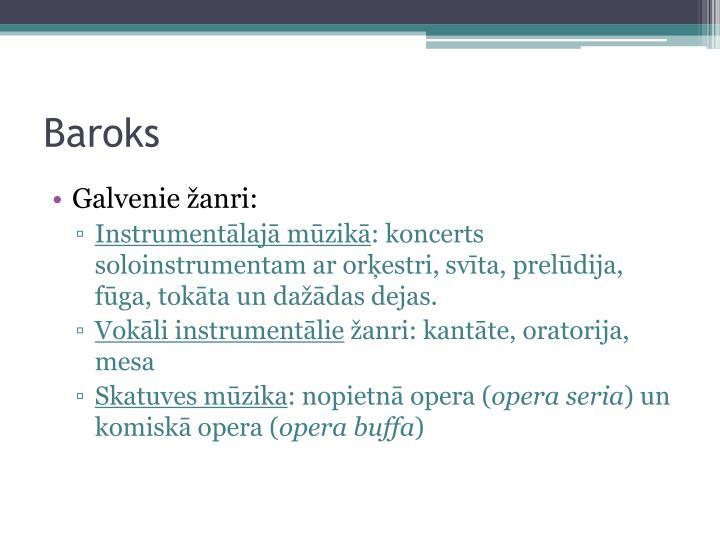 Baroks