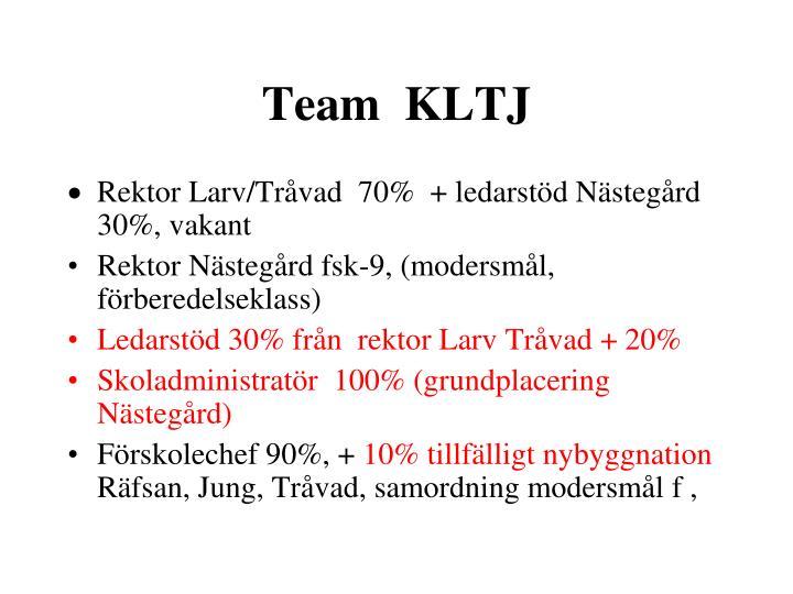 Team  KLTJ