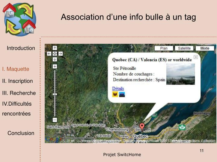 Association d'une info bulle à un tag