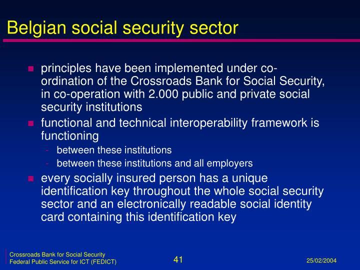 Belgian social security sector
