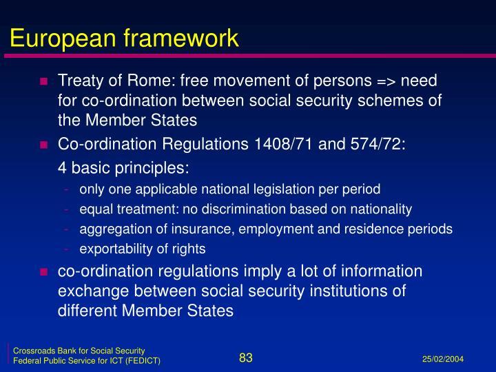 European framework
