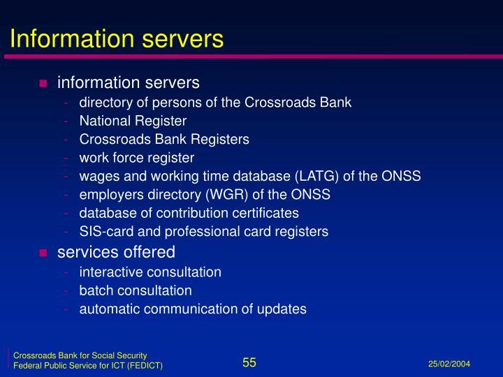 Information servers
