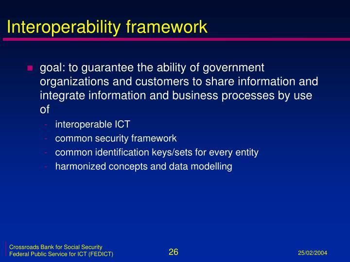 Interoperability framework