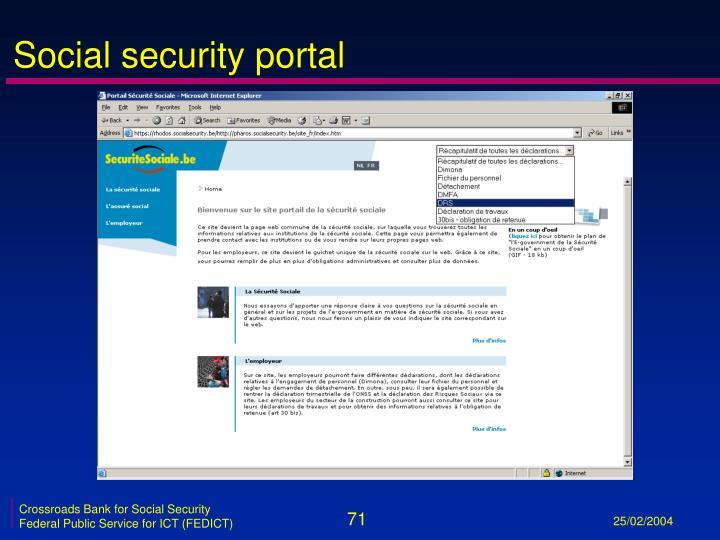 Social security portal