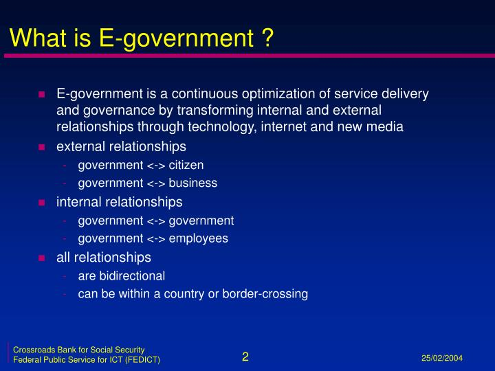 What is e government