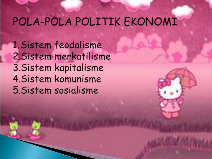 POLA-POLA POLITIK EKONOMI