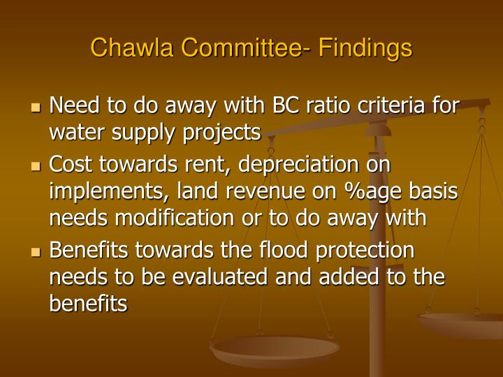 Chawla Committee- Findings