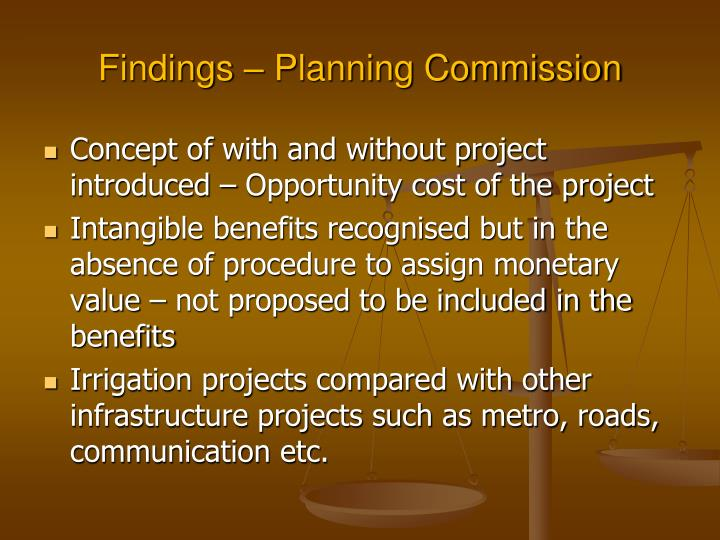 Findings – Planning Commission